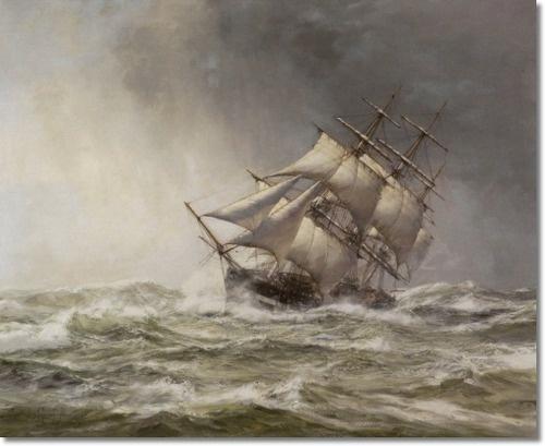 Montague Dawson - Rough Weather