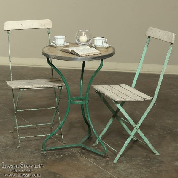 Antique Furniture | Antique Occasional Tables | End Tables | Antique French Cafe Table | www.inessa.com