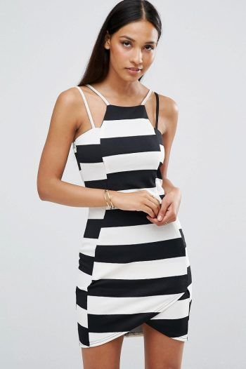 AX Paris Striped Textured Mini Dress Blackwhite 220x330 The best black and white dresses for any occasion