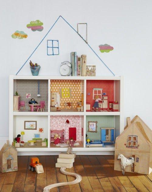 Lindas Casas de muñecas hechas con estanterías . Si tienes una hija pequeña, entonces definitivamente necesitas una casa de muñecas . A toda...