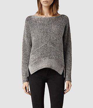 Womens Mesa Sweater (LIquorice/Chalk) - product_image_alt_text_1