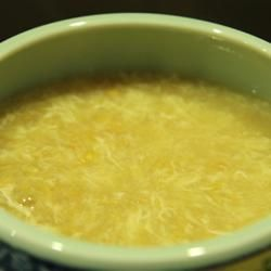 Easy Chinese Corn Soup Allrecipes.com - In a saucepan, combine 1 can (15oz) cream style corn and 1 can (14.5oz) chicken broth. Bring to a boil over medium-high heat. In a small bowl or cup, mix together the 1 Tbsp cornstarch and 2 Tbsp water; pour into the boiling corn soup, and continue cooking for about 2 minutes, or until thickened. Gradually add 1 beaten egg while stirring the soup. Remove from heat and serve.
