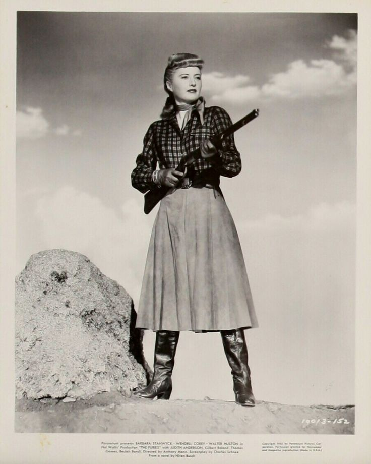 THE FURIES (1950) - Barbara Stanwyck - Base on novel by Niven Busch - Directed by Anthony Mann - Paramount Pictures - Publicity Still.