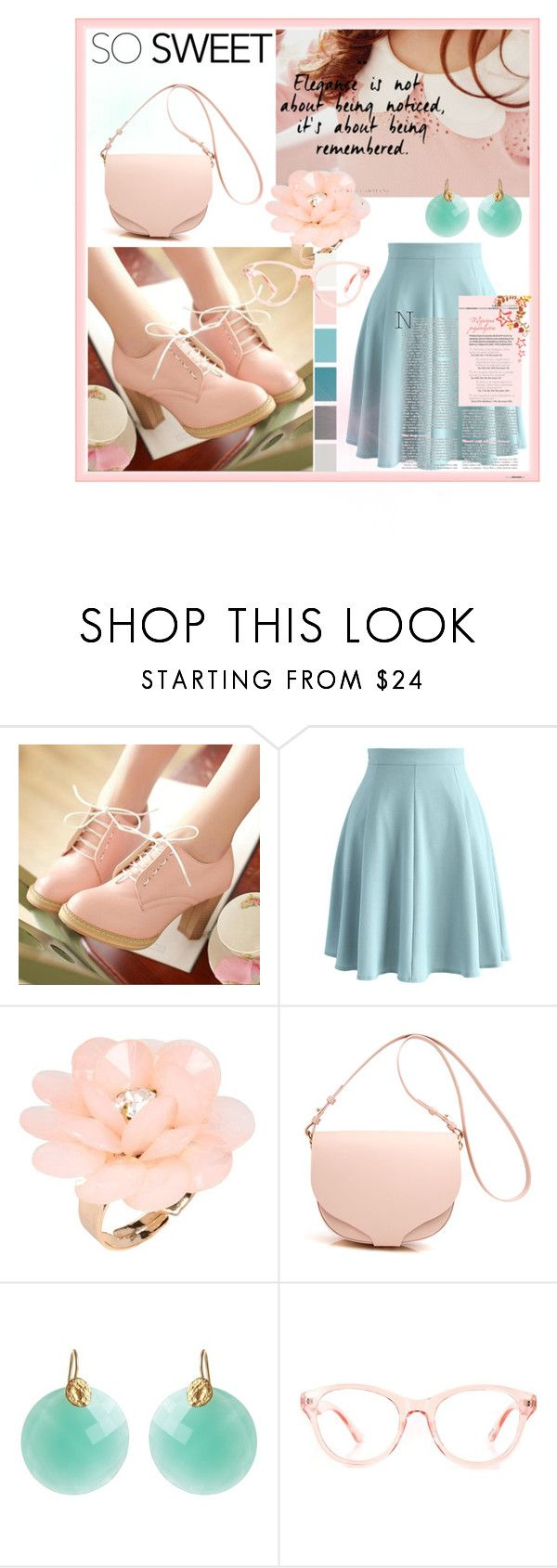 """""""Pretty in pastels."""" by gema-z ❤ liked on Polyvore featuring Chicwish, Dettagli, Seed Design, Kastur Jewels, pastel and prettyinpastels"""