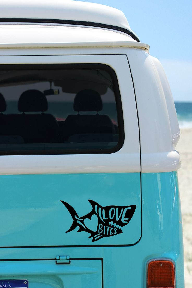 Shark Decal Any Color, Shark Love Bites Decal, Valentine Day Decal Sticker, Shark Mug Decal, Shark Car Decal, Shark Boat Decal by PearlStreetBoutiq on Etsy https://www.etsy.com/listing/587765937/shark-decal-any-color-shark-love-bites