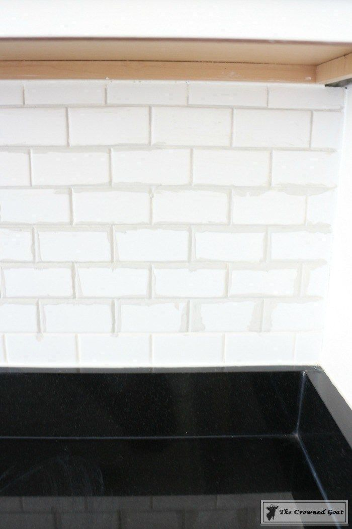 How To Easily Change The Color Of Existing Grout The Crowned Goat In 2020 Grout Color Tile Grout Color Grout