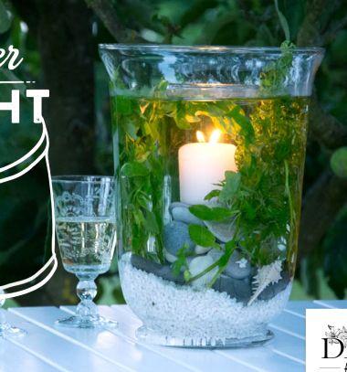 DIY underwater candles - gorgeous and easy table decor // Víz alatti gyertyák növényekkel és kavicsokkal üveg vázából // Mindy - craft tutorial collection