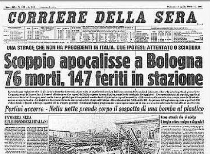 Corriere della sera 3 agosto 1980 dopo la strage di for Corriere della sera arredamento