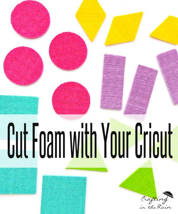 How to cut foam sheets with a Cricut, make foam tangram shapes