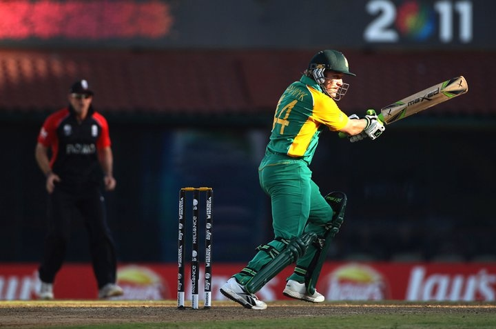 Morne van Wyk in action at the Cricket World Cup