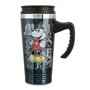 Disney Travel Mug - Stainless Steel Sketch Art Mickey Mouse
