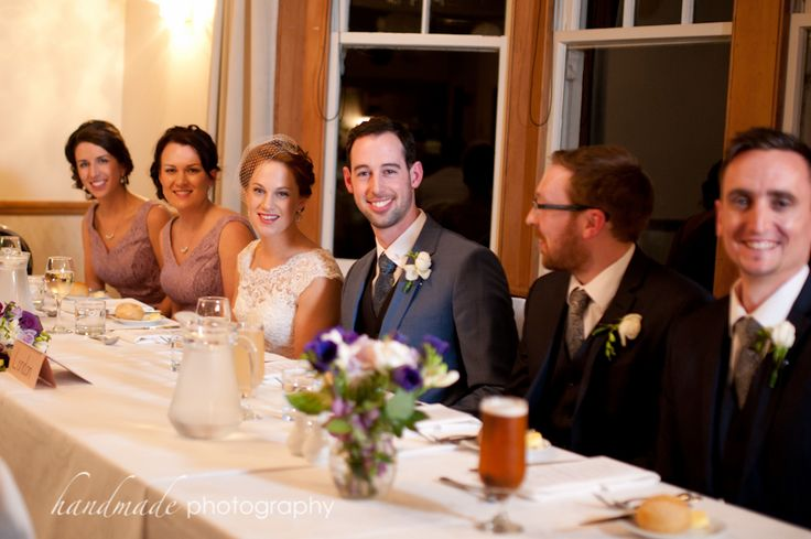 Head table with bridal party