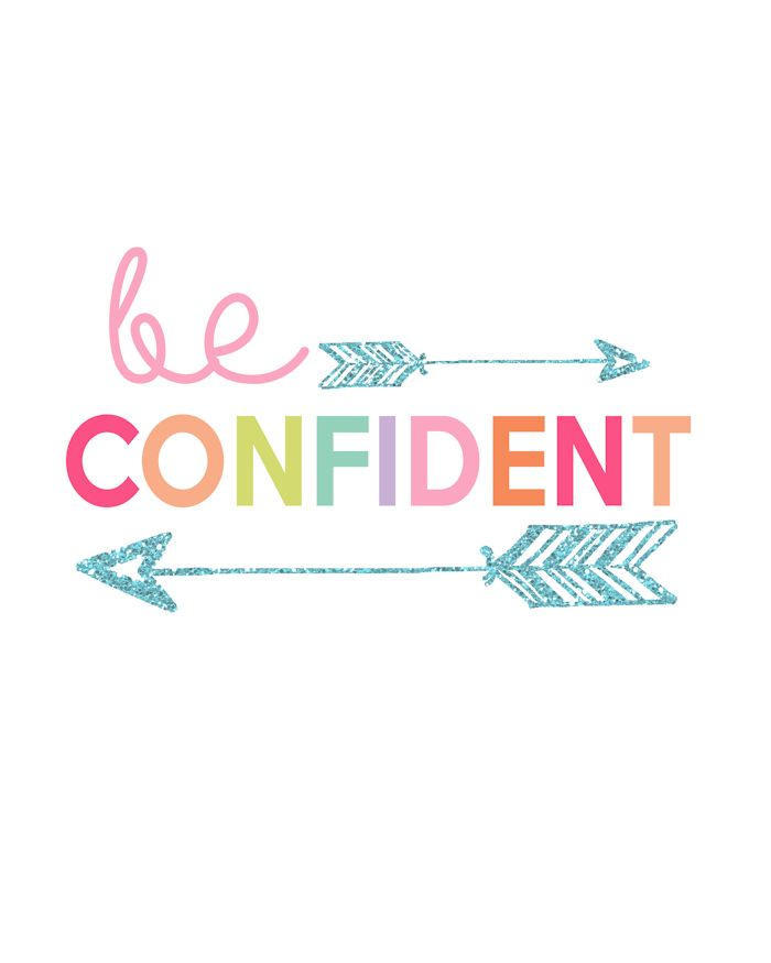 be confident printable - Kid Prints