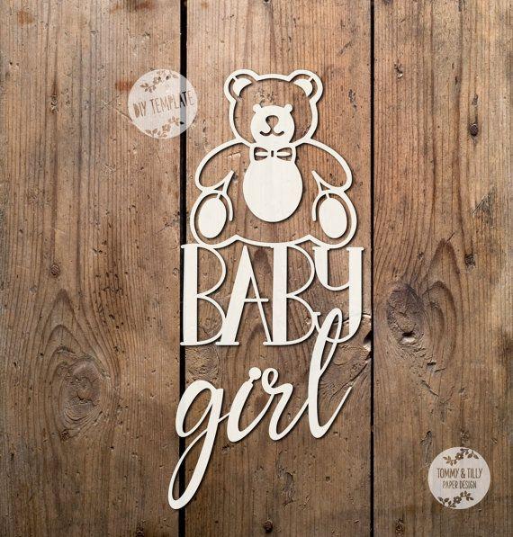 Teddy Baby Girl SVG PDF Design  by TommyandTillyDesign on Etsy
