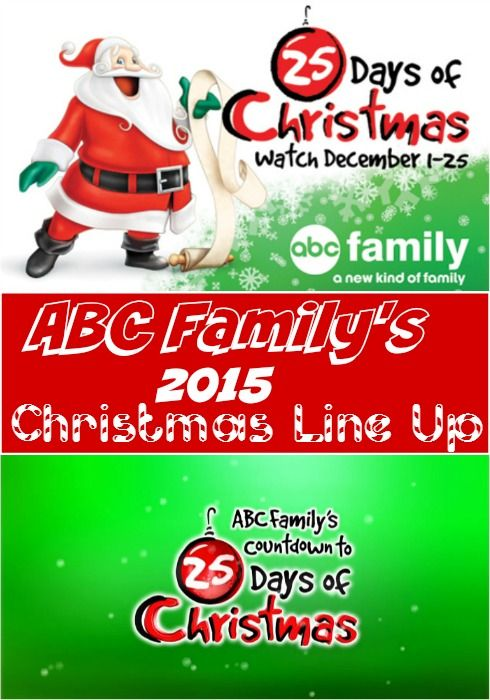 ABC Family's 2015 25 Days of Christmas TV Schedule - The Frugal Navy Wife
