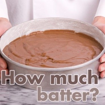 """Most boxed cake mixes have directions for baking in one 9"""" round pan. But what if you want to bake in a square pan? Or, what if your favorite chocolate cake recipe needs to be turned into a large cake for a wedding? There are simple steps to determining the batter capacity for baking pans."""