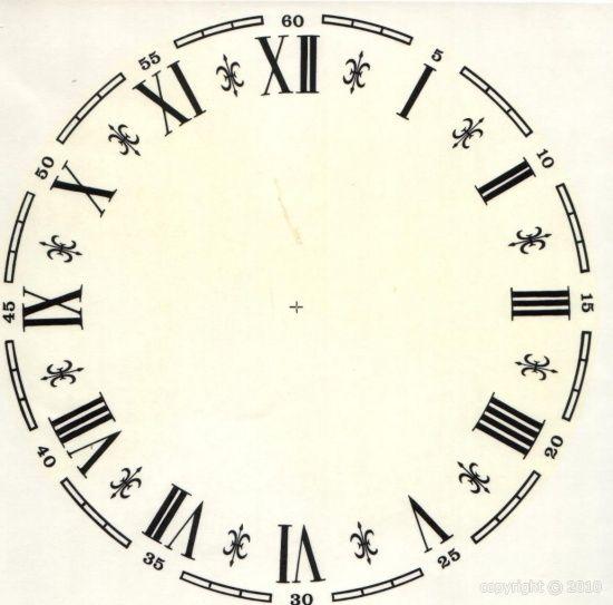 DECALCOMANIE : CHIFFRES ROMAINS - (10 Diamètres)