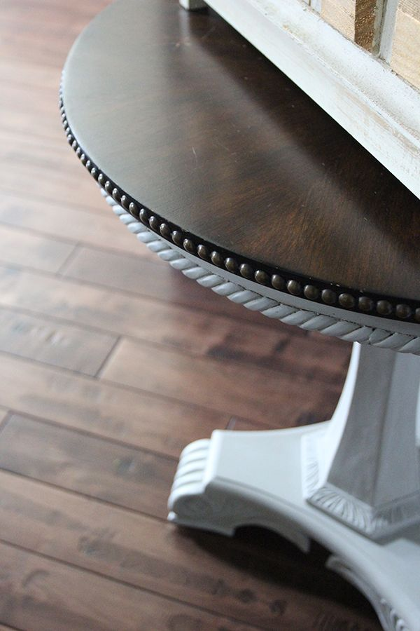 Chalk Painted Pedestal Table Makeover | Less Than Perfect Life of Bliss | home, diy, travel, parties, family, faith