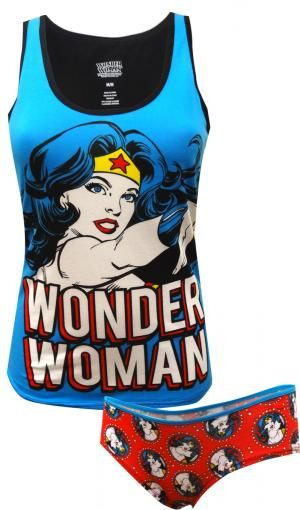 WebUndies.com DC Comics Wonder Woman Camisole & Panty Set