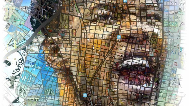O Χάρης Τσέβης κάνει πορτρέτα τους ανθρώπους που θαυμάζει. Δεν μπορούσε να μην αφιερώσει ένα στον Γιάννη Αντετοκούνμπο. #mosaic #photomosaic #cartography #NBA #basketball #poster #illustration #maps