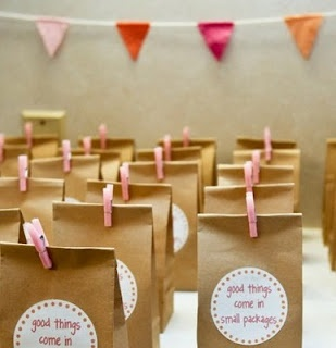 simple brown paper party bags