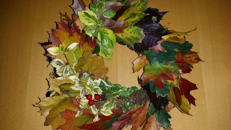 Věnec z listí