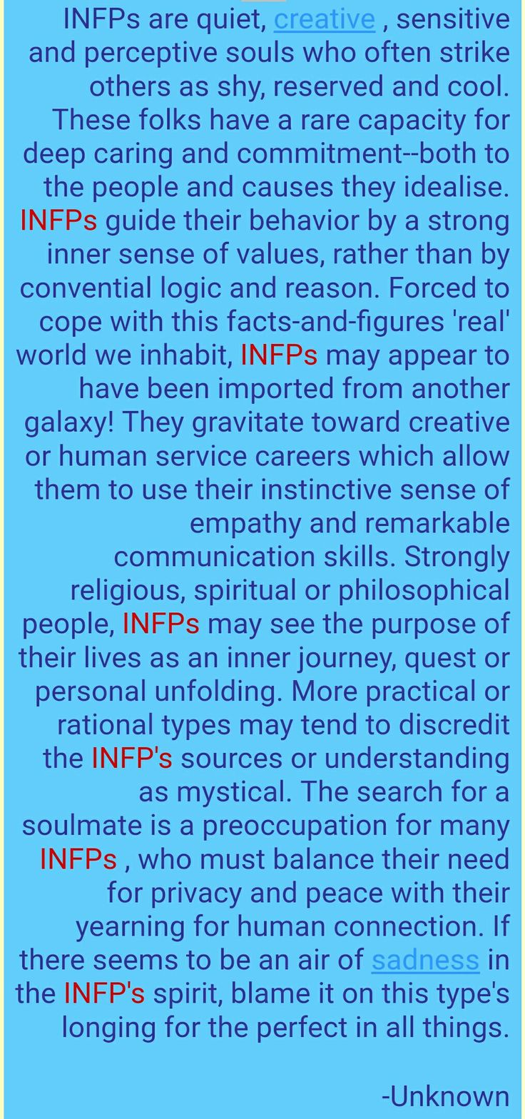 """""""More practical or rational types may tend to discredit the INFP's sources or understanding as mystical."""" <---- Yes, I am a Unicorn!! #INFP Truths exposed!"""