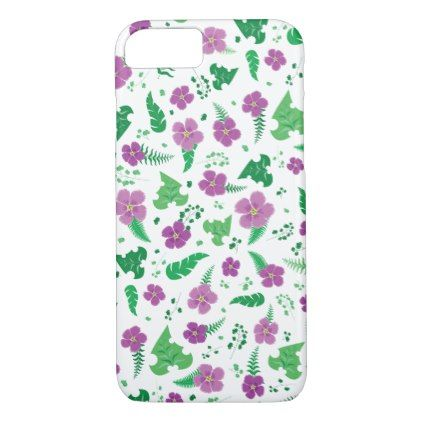 Purple Hibiscus iPhone 8/7 Case - trendy gifts cool gift ideas customize