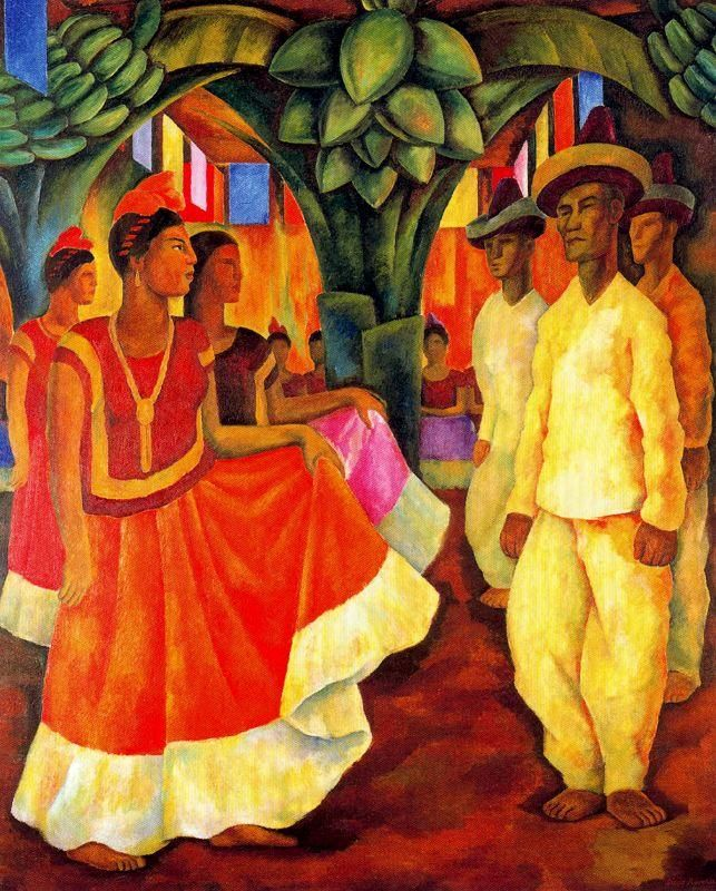 Dance of Tehuantepec by Diego Rivera - I want this!