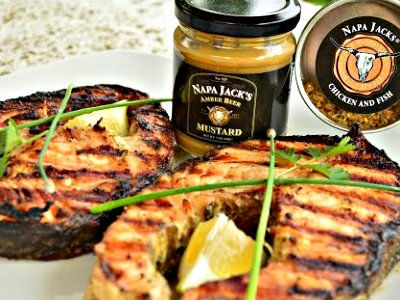 #FishFriday - Check out my #Grilled #NapaJacks Amber #Beer #Mustard #Salmon #Steaks #recipe - featured on ifood TV all weekend!  Cooking Show: http://ifood.tv/fish/1008680-how-to-grill-napa-jacks-amber-beer-mustard-salmon-steaks  Brought to you by Wine Country Kitchens: http://WineCountryKitchens.com  * Get ideas & more at Cooking With Kimberly: http://cookingwithkimberly.com @CookingWithKimE #cwk