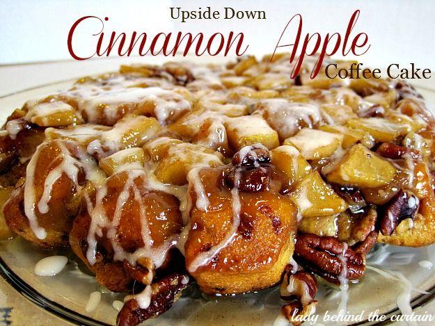 Upside-Down Cinnamon Apple Coffee Cake - Lady Behind the Curtain
