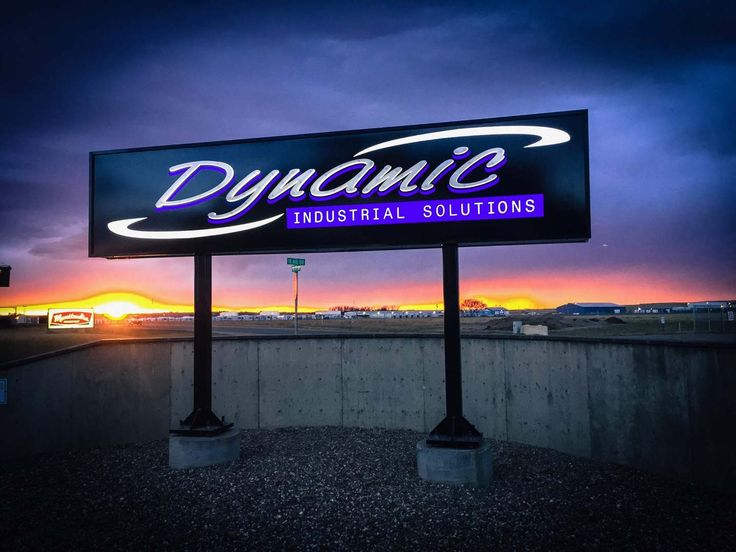 Can you say 'WOW'?  LED lit pylon with dimensional lettering by Speedpro Signs Medicine Hat!