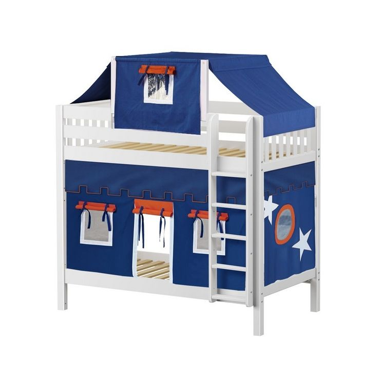 Single over single bunk bed w vertical ladder top tent and curtains. Beautiful fortress  sc 1 st  Pinterest & 9 best Single over Single Bunk Bed images on Pinterest | 3/4 beds ...
