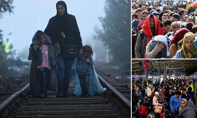 Germany halts trains from Austria amid overwhelming influx of refugees #DailyMail