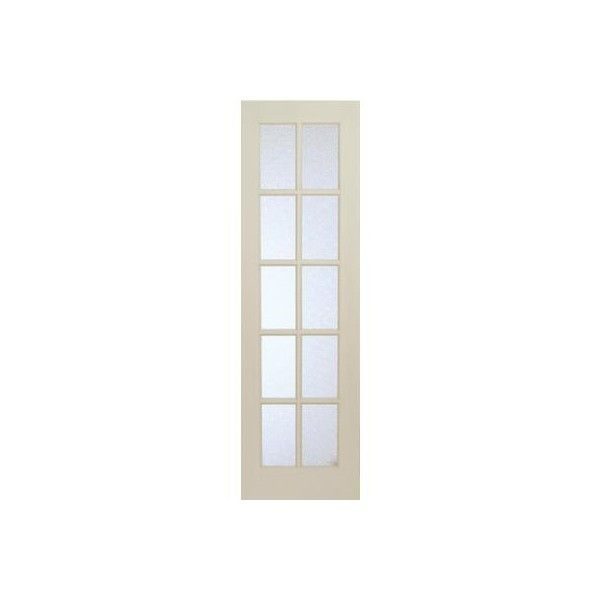 Milette Interior 10 Lite French Door Primed With Martele Privacy Glass... ❤ liked on Polyvore