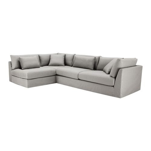 """Outdoor Furniture Catalogs: Pavo Outdoor 132"""" Two Piece Slipcovered Sectional In Dock"""
