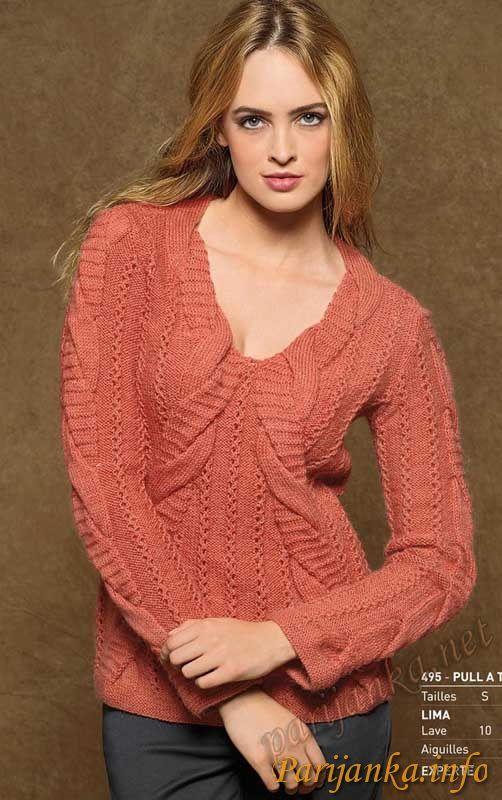 Пуловер с косами (ж) 495 11/12 BDF №1859