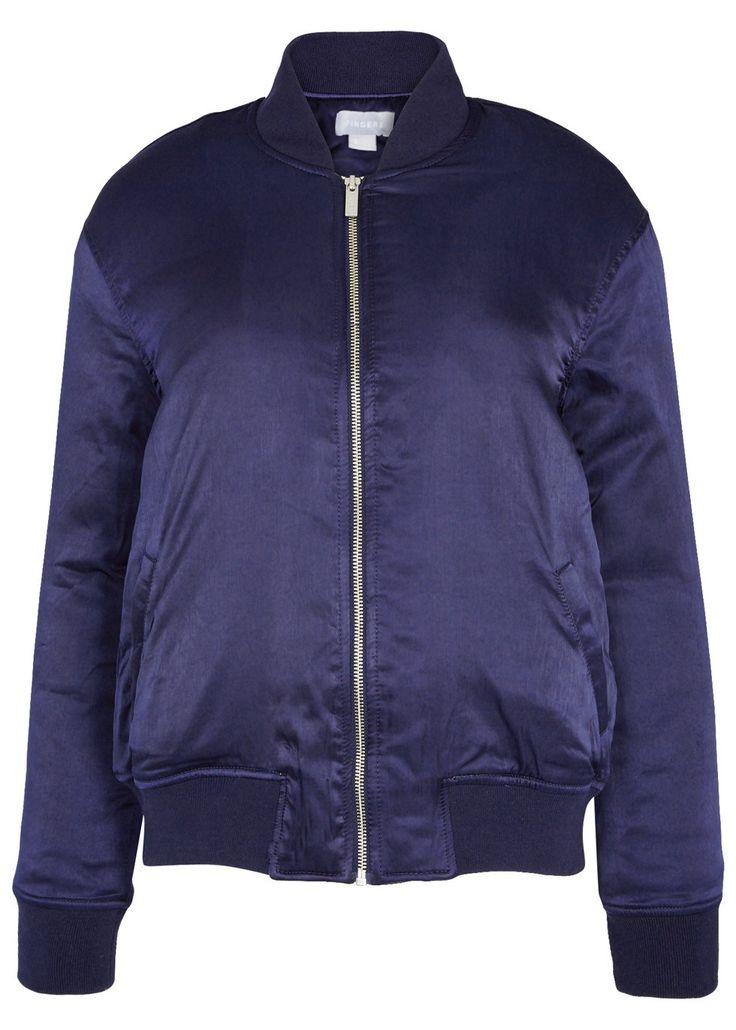 Claude dark blue satin bomber jacket - Jackets - All Clothing - Women