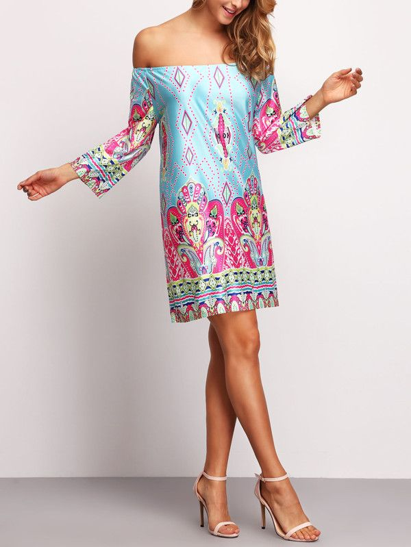 Shop Bardot Paisley Print Dress online. SheIn offers Bardot Paisley Print Dress & more to fit your fashionable needs.