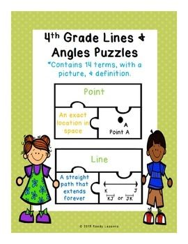 Geometry: Lines and Angles Puzzles CCSS 4.G.A.1