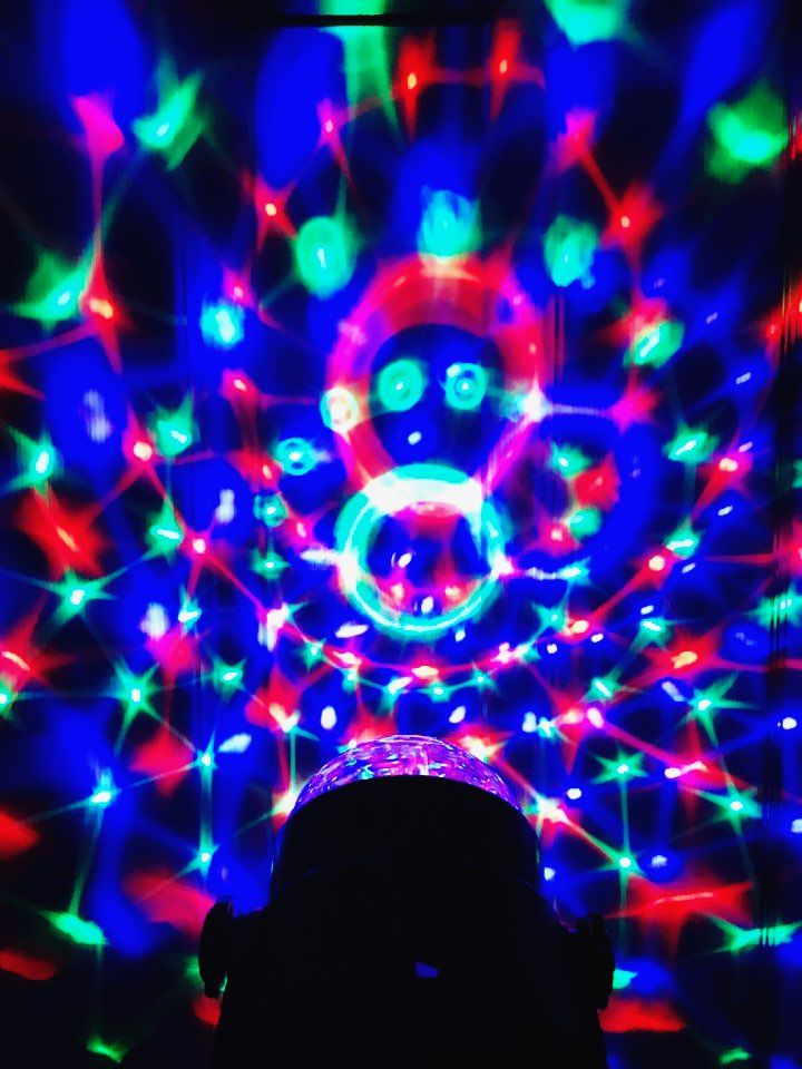 Turn Any Room Into A Modern Disco With Instant Party Light Projector And Set The Mood With The Touch Of A Button Rotating Rgb Party Lights Disco Lights Light