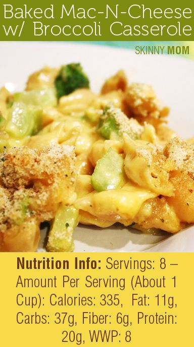 Skinny Baked Mac and Cheese with Broccoli | Recipe | Broccoli ...