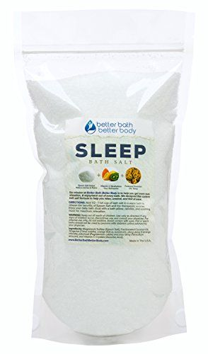Sleep Bath Salt 2 Pounds Size - Epsom Salt Bath Soak With Tansy Essential Oils & Vitamin C - All Natural No Perfumes No Dyes - Get A Better Night's Sleep Naturally