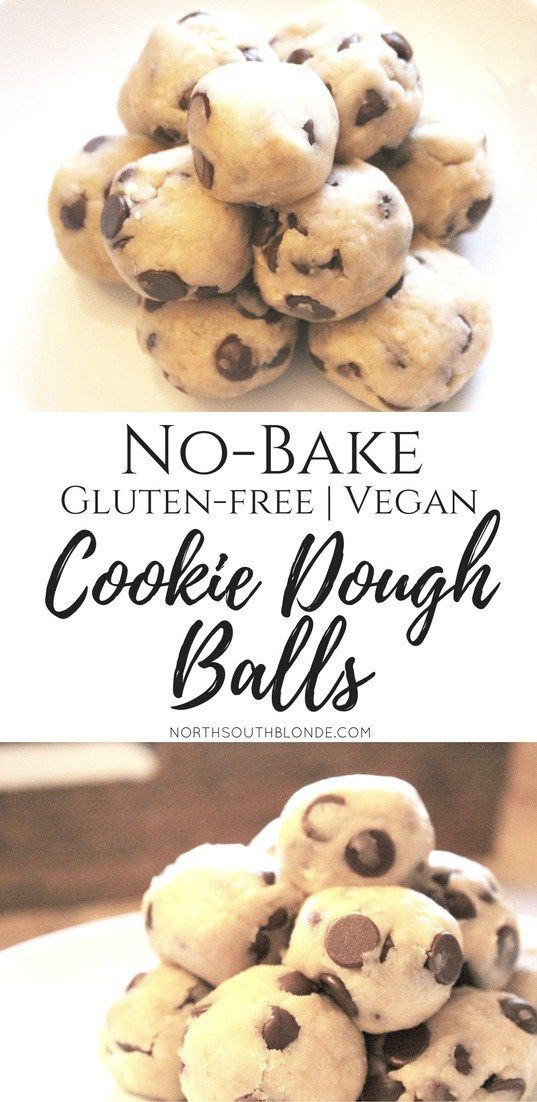 Healthy, gluten-free, vegan, cookie dough balls are super easy to make and a healthy alternative for toddler food, snacks, and dessert. For any holiday or occasion. No bake! Click thru to get the recipe!