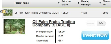 New Project: Oil Palm Fruits Trading Company (STAGE II)