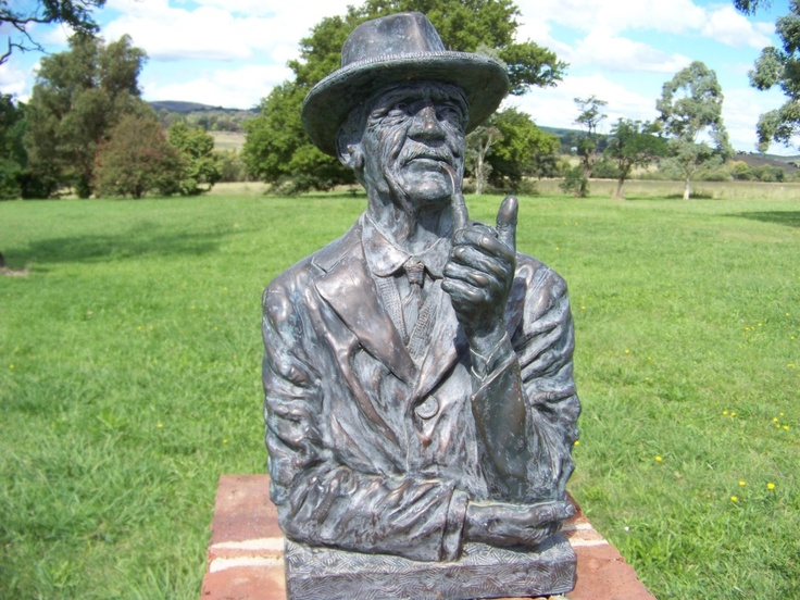 Bust of Banjo Paterson at the Banjo Paterson Memorial just outside Orange NSW