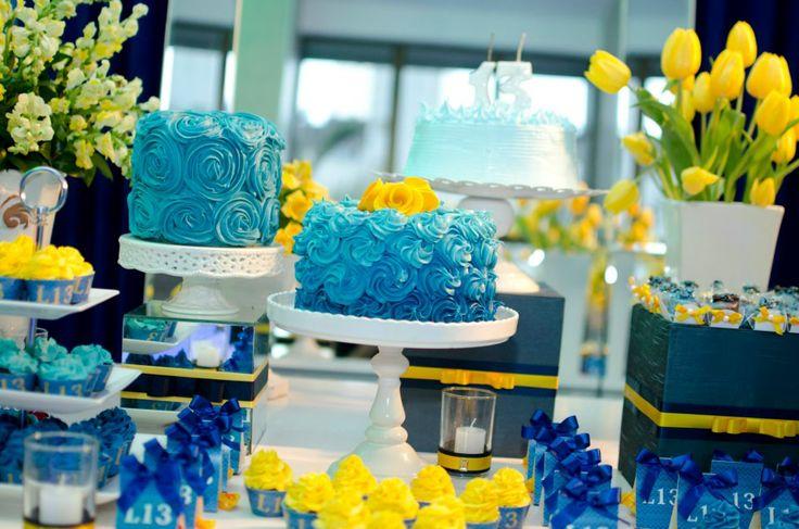 decoracao azul e amarelo noivado:Decoração Azul e Amarelo prepareseparacasar.com