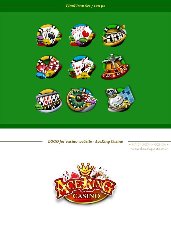 Icon Set + Web | AceKing CASINO by Naida Jazmín Ochoa, via Behance