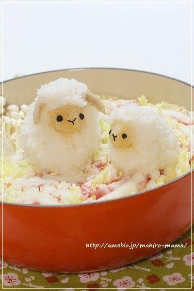 お正月にも 羊の大根おろしアート*デコ鍋 by momo** [クックパッド] 簡単おいしいみんなのレシピが192万品