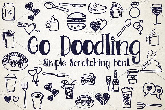 Go Doodling, Scratching Font by debut studio on @creativemarket